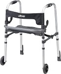 Clever Lite LS Rollator Walker with Seat and Push Down Brakes