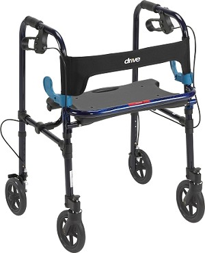 "Clever Lite Rollator Walker, Flame Blue, Adult, Wheel 8"" Wheel"