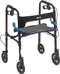 Clever Lite Rollator Walker, Flame Blue, Adult, Wheel 8
