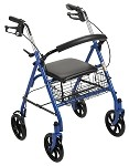 Durable 4 Wheel Rollator with 7.5
