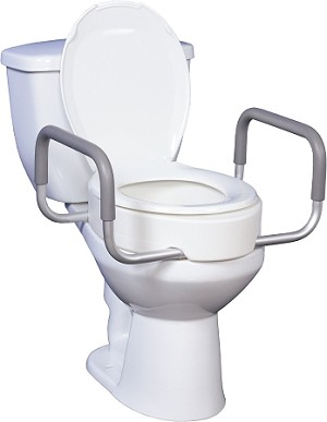 Premium Toilet Seat Riser with Removable Arms