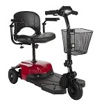 Red Bobcat X3 3 Wheel Compact Travel Scooter