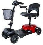 Red Bobcat X4 4 Wheel Compact Travel Scooter
