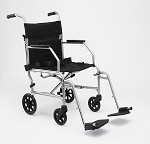 Basic Steel Transport Wheelchair - (19in)