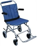 Super Light, Folding Transport Chair with Carry Bag and Flip-Back Arms