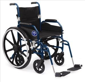 Hybrid Wheelchair w/ Removable DL Arms