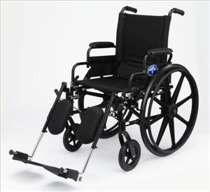 Excel K3 Wheelchair w/ Removable Desk Length Arms (18inblack)