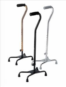 Small Base Quad Cane, Chrome (Case of 2)