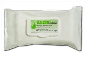 "Aloetouch Scented Wet Wipes, 7""x8""  80/pk"