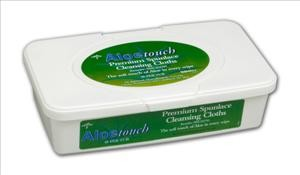 "Aloetouch Scented Wipes, 9""x13""  48/tub"