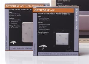 Optifoam Ag Non-Adhesive Dressing, 4x4 (box of 10)