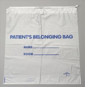 Patient Belonging Bags, Drawstring (Case of 250)