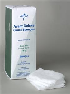 Deluxe Non-Woven Avant Gauze, 4x4, 4ply, Sterile (Case of 1200)