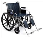 Excel Extra-Wide Wheelchair w/Removable Arms and Detachable Elevating Legrests (22